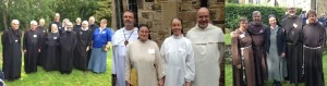 All the Benedictines, Dominicans and Franciscans present