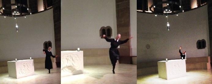 Sr Sylvie dancing three together